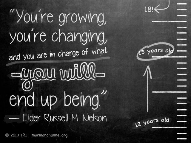 Quote for the Youth from Elder Russell M. Nelson.  #LDS #Mormons #ElderNelson