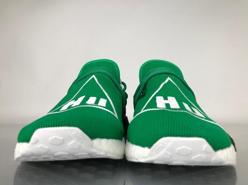 "8233147a3 Adidas NMD Human Race Pharrell Williams ""Green"" Real Boost BB0620 for  Sale 03 Pharrell x adidas NMD Human Race Colorway  Green Footwear  White-Black Retail  ..."