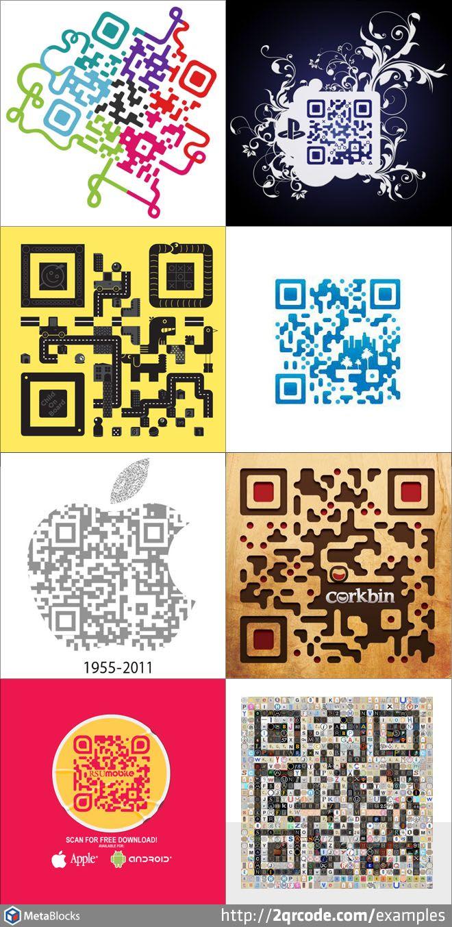 Custom QR Code Examples 1 Qr code, Code art, Social