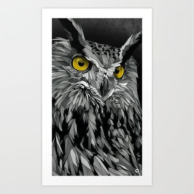 OWL Variant Art Print by Dani Blázquez - $19.00