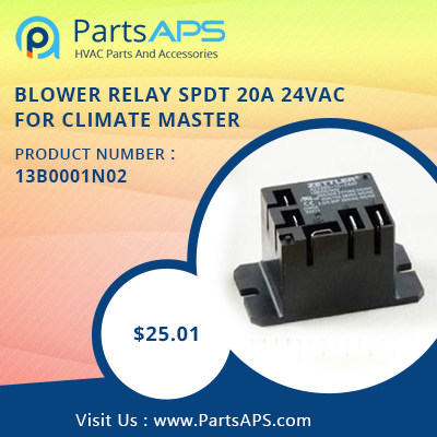 BLOWER RELAY SPDT 20A 24VAC For ClimateMaster Part