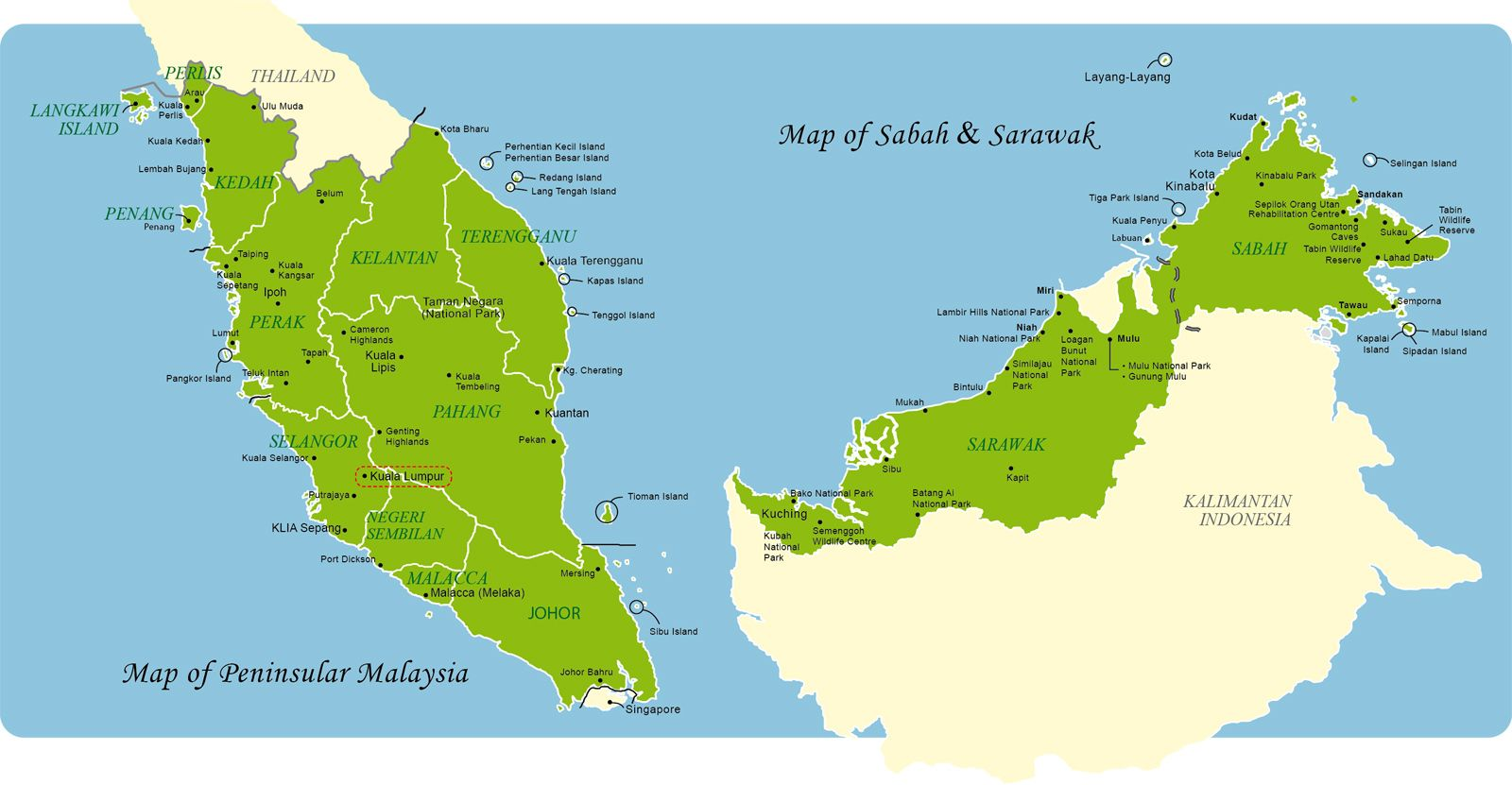 Map of East and West Malaysia Travel Malaysia Pinterest Malaysia