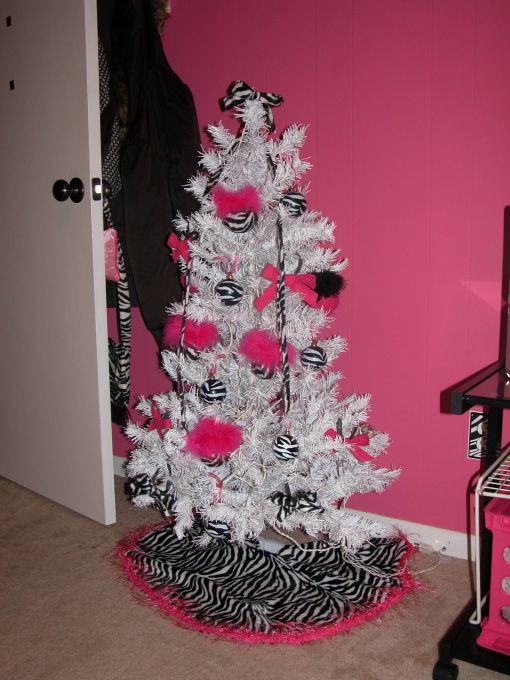 Hot Pink With Zebra Print Pink Christmas Christmas Decorations Zebra Decor