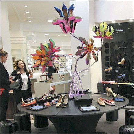 """DAVID JONES,Sydney, Australia, """"Garden of Eden"""", (Bouquets of Shoes), pinned by Ton van der Veer"""