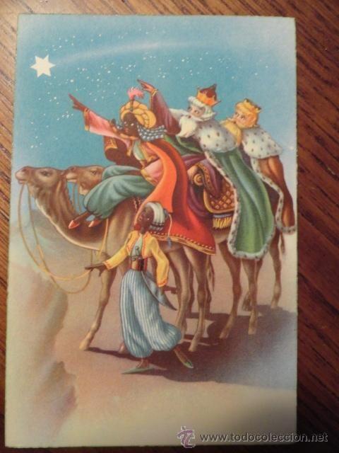 Felicitaciones De Navidad Con Los Reyes Magos.Postal Infantil Felicitacion De Navidad Tres Reyes Magos