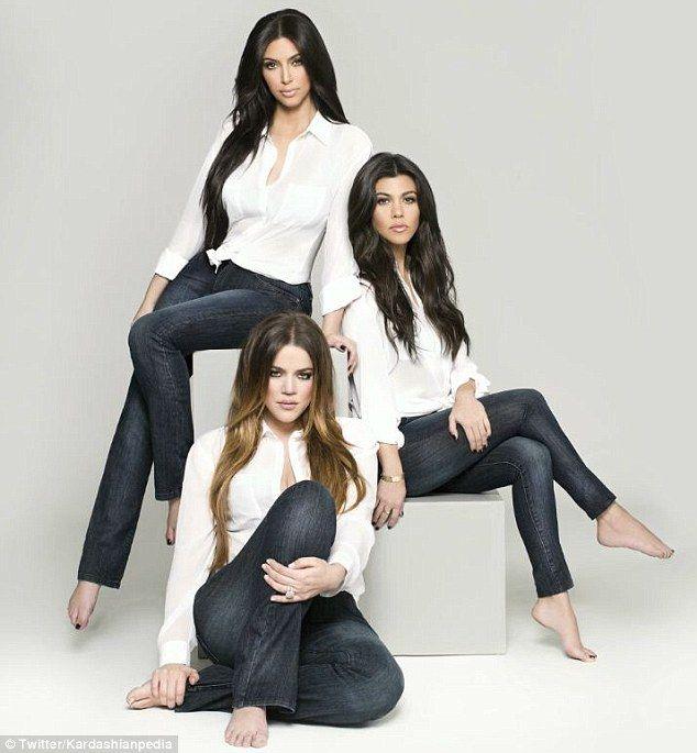 Best 11 Kim, Kourtney and Khloe team up to unveil new range of jeans to fit those Kardashian kurves – girl photoshoot poses