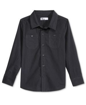 Epic Threads Railroad Woven Shirt, Little Boys (2-7), Only at Macy's - Black 2
