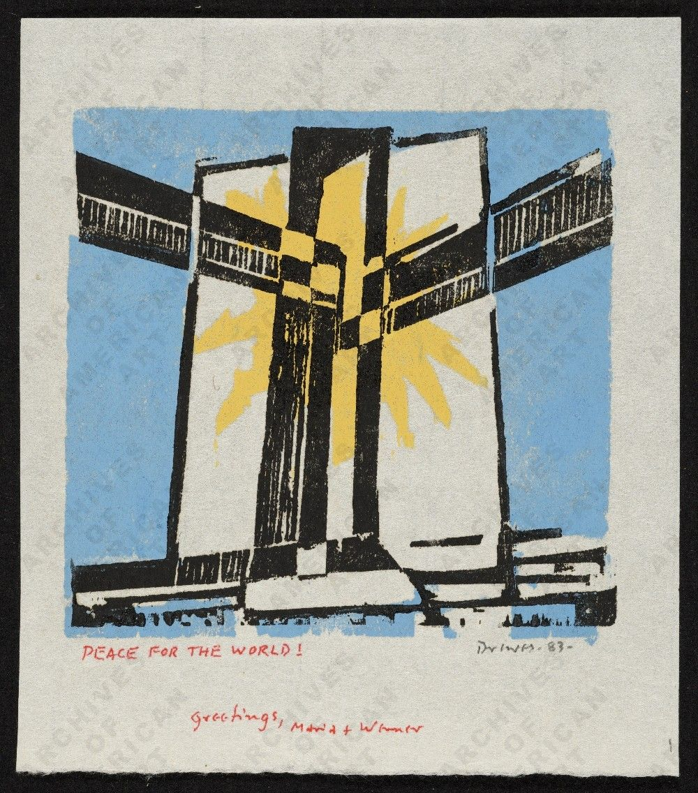 Werner Drewes Christmas card, from the Werner Drewes papers - Image ...