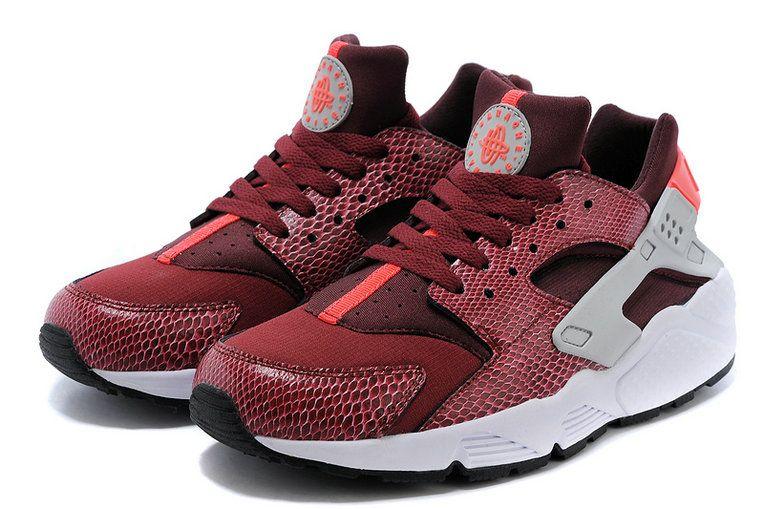 cheap for discount 5d4ab 43e61 Women Nike Air Huarache Red Snake Deep Burgundy Silver