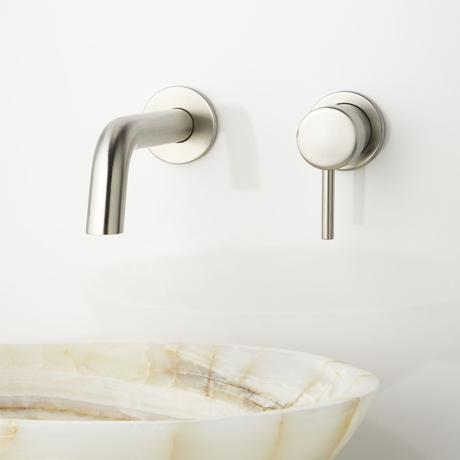 Rotunda Wall-Mount Bathroom Faucet | Faucets | Pinterest | Bathroom ...
