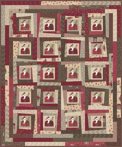 Lynette Anderson Designs Scandinavian Christmas Fabric Christmas Fabric Winter Quilts Santa Quilt