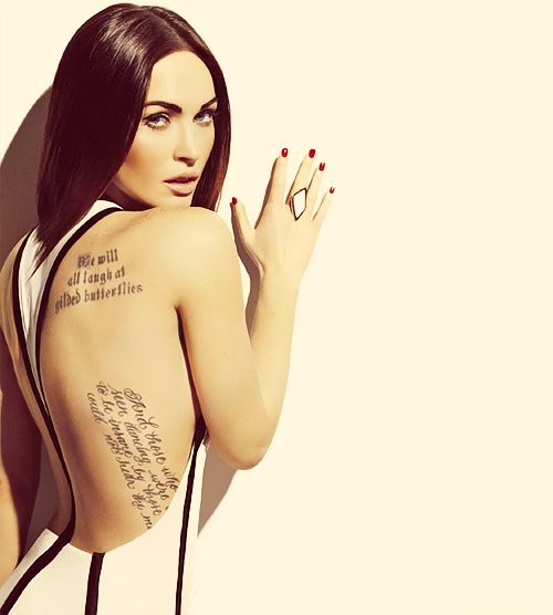 Fygirlcrush Celebrity Tattoos Megan Fox Tattoo Megan Fox