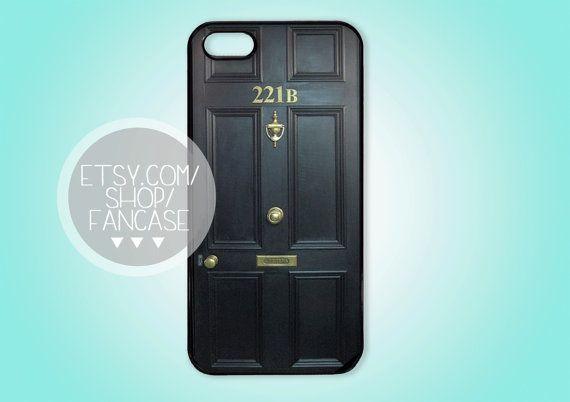BBC Sherlock Benedict Cumberbatch iPhone 4 4s 5 Case Cute Hipster 221 B Street Door on Etsy, $15.00