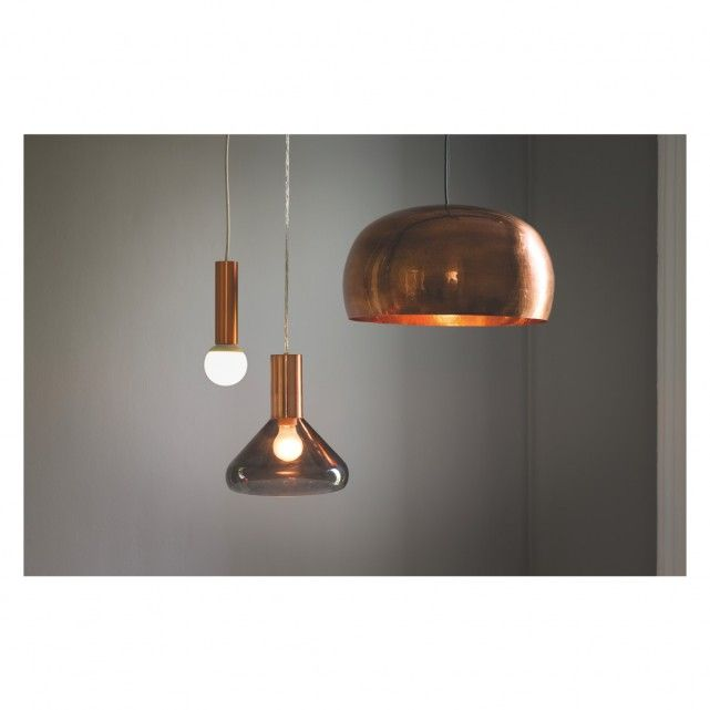 Marlowe smoked glass and copper ceiling light brass ceiling light marlowe smoked glass and copper ceiling light buy now at habitat uk aloadofball Image collections