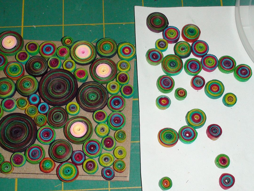 Quilled coils made of fabric not paper and Terial Magic!