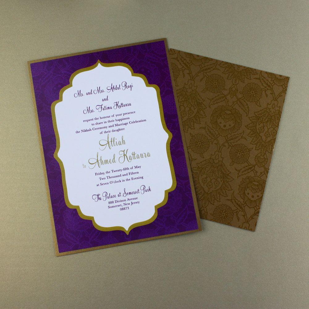 Moroccan Wedding Invitation Arabian Nights Or
