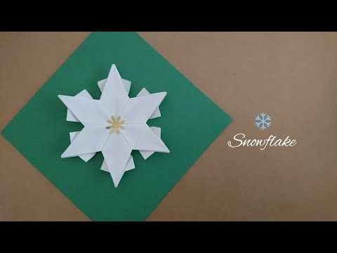 Photo of Origami Snowflake/6-point Star for Christmas 折纸雪花 (2)