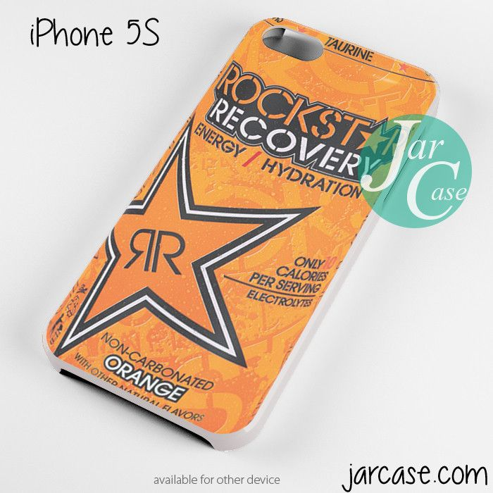 rockstar energy drink recovery orange Phone case for iPhone 4/4s/5/5c/5s/6/6 plus