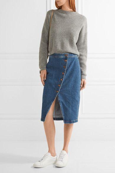 6edfa5a66 Madewell Denim Wrap Skirt, Denim Skirts, Madewell Denim, Jean Skirt Outfits,  Stretch