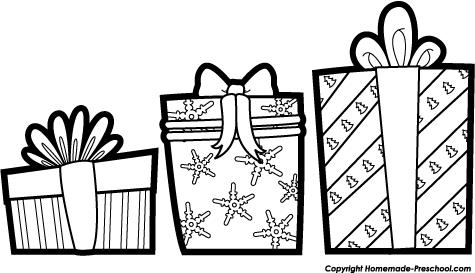 Christmas Present Clipart Black And White Clipart Library Free Christmas Clipart Clip Art Christmas Newsletter
