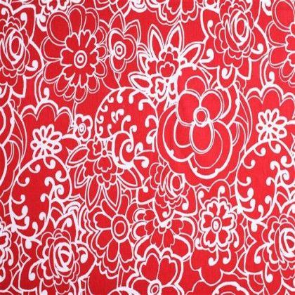 Belle Fleur Rouge Blanc Ou Celui La Tissus Pinterest