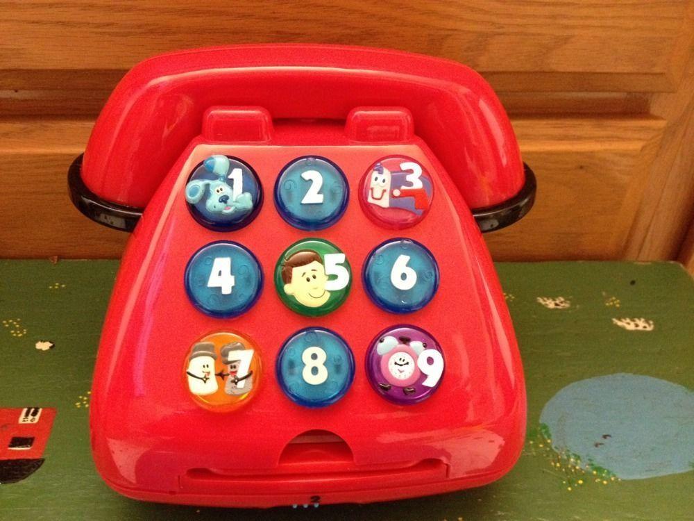 Blues Clues Talking Phone Multi Function 1999 Mattel Rare
