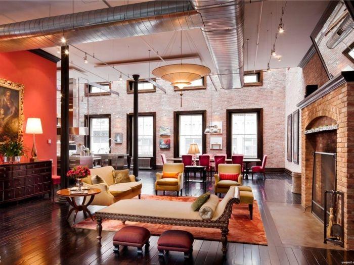 La deco loft new yorkais en 65 images | Lofts