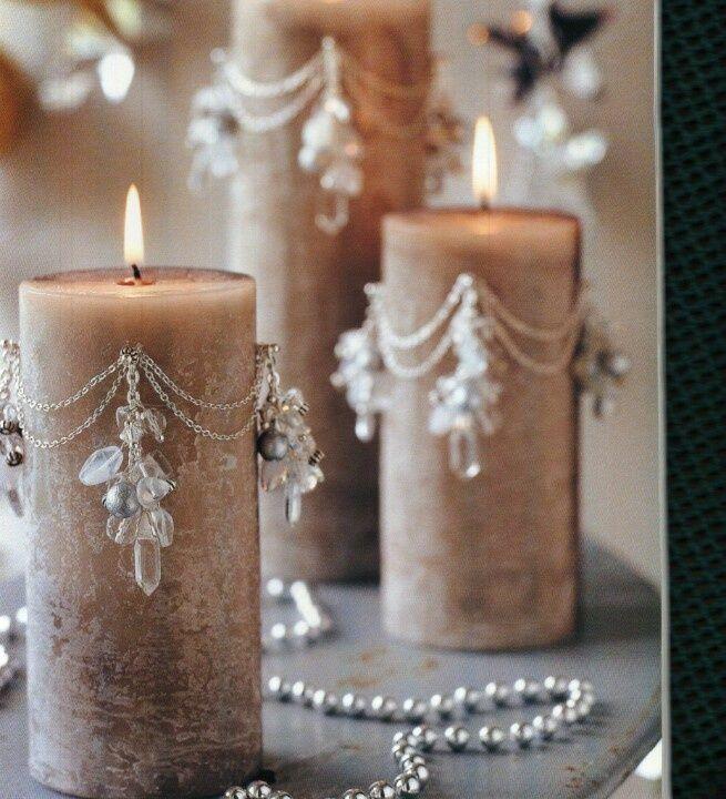 Decorar velas con abalorios este oto o podemos traer la creatividad y el color a nuestro hogar - Velas decoradas para navidad ...