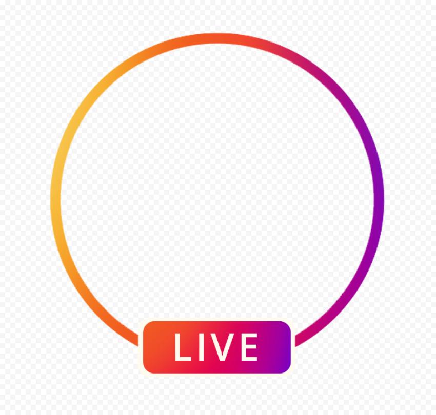Circle Instagram Live Streaming Social Media Icon Citypng Social Media Icons Instagram Live Media Icon