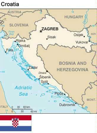 Croatia Map And Flag Croatia Map Croatia Travel Croatia