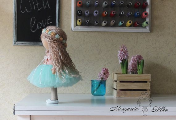 Love doll Handmade blonde green colors by AnnKirillartPlace