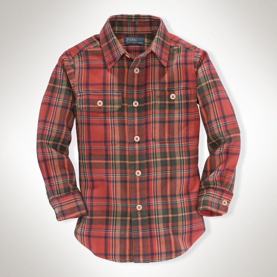 5353ace4a Ralph Lauren Children Boys 2T-4T Matlock Plaid Shirt  VonMaur