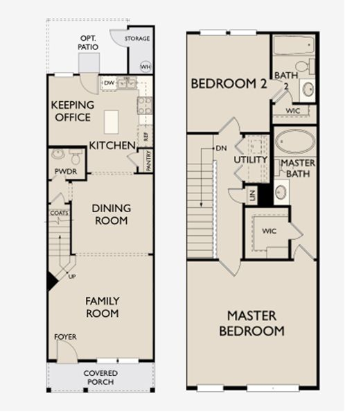 Pemberly Townes Floor Plans For 2 Bedroom 2.5 Bath Homes