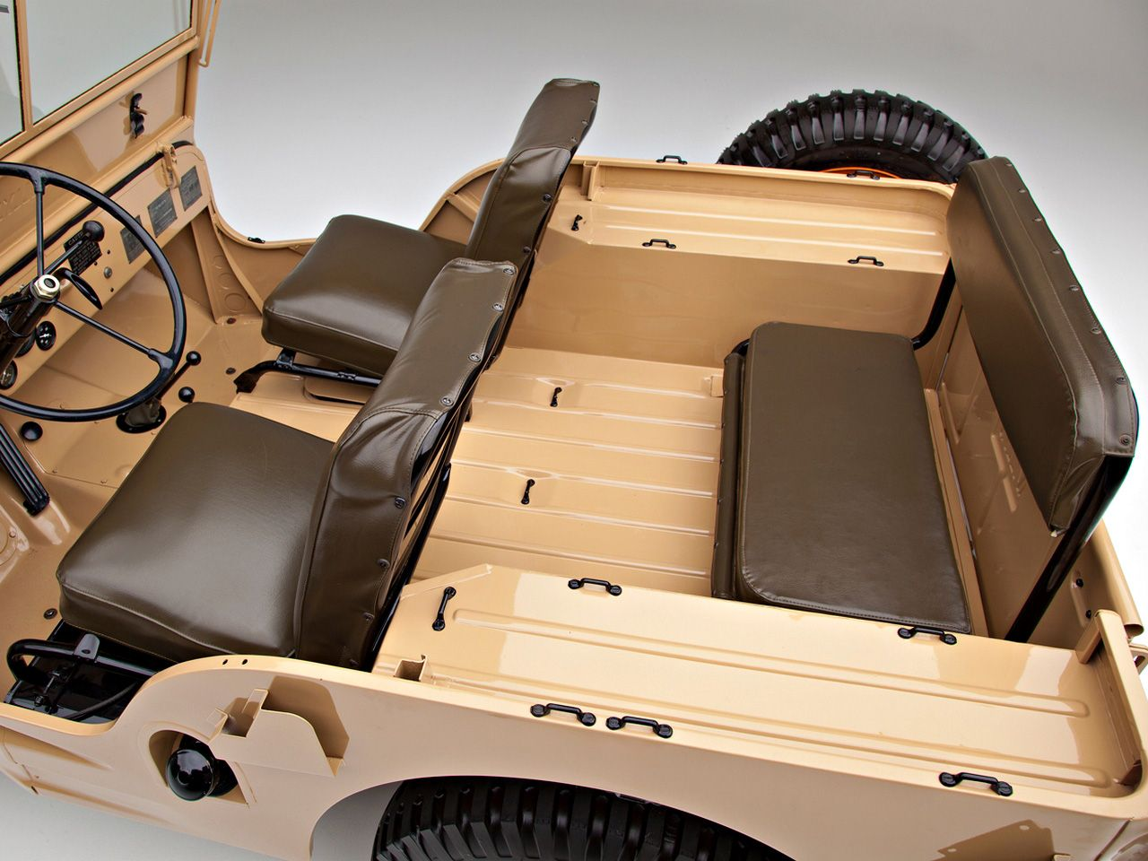 hight resolution of rear seat of 1946 willys overland jeep cj 2a