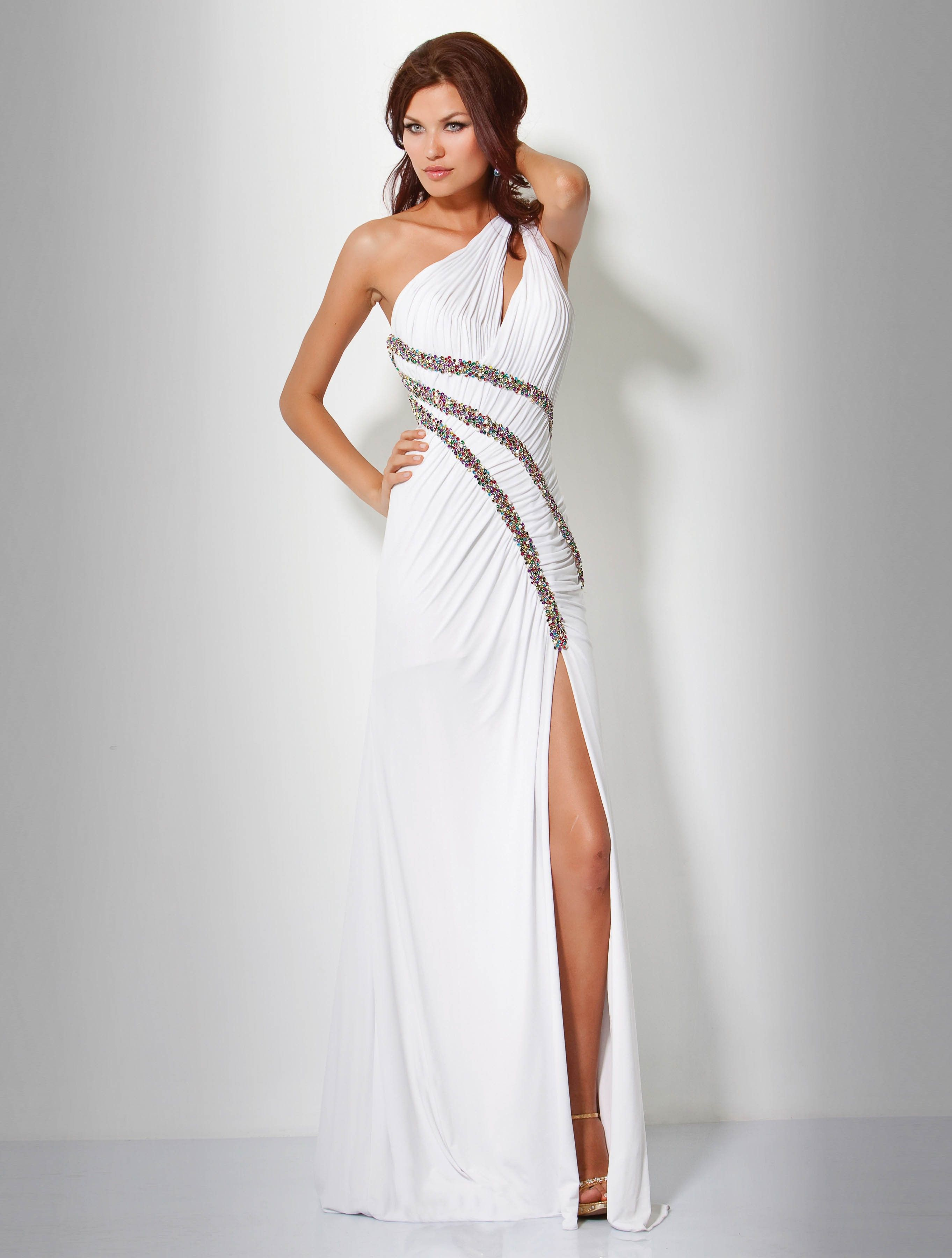 Sheath/Column One Shoulder Floor-Length Chiffon Prom/Evening Dress