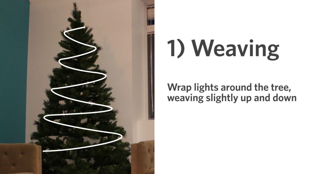 Weaving Holiday Decorating, Christmas Tree, Weaving, Teal Christmas Tree,  Weave, Knitting - 3 Ways To Light The Christmas Tree Holidays