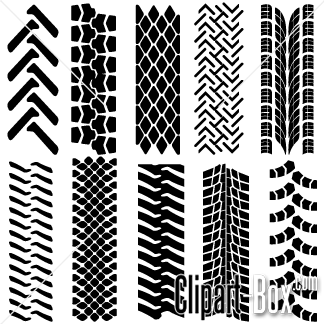 Clipart Tire Tracks Set Royalty Free Vector Design Tire Tracks Tractor Tire Prints