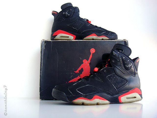 sports shoes b569a c8057 Sunshining7 - Nike Air Jordan VI - 1991 - OG Black Infrared ...