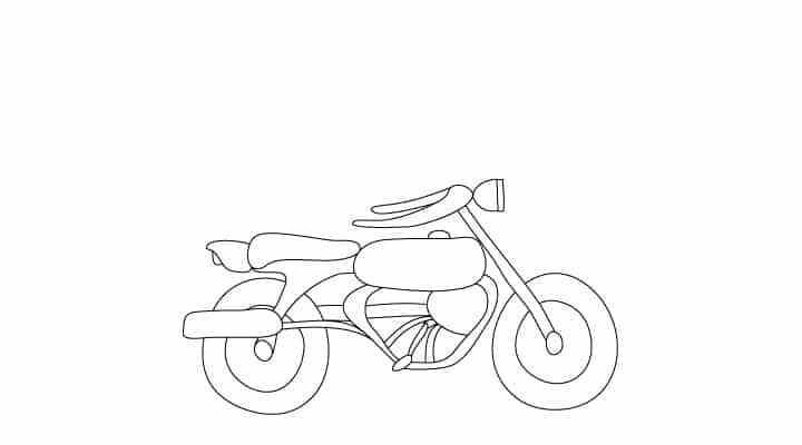 How To Draw A City With Images Motorcycle Drawing Drawings