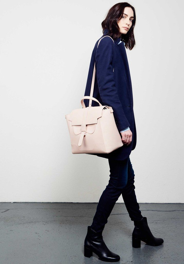 96ba9ae516f2 SENREVE Maestra - Medium Convertible Leather Bag - 100% made in Italy
