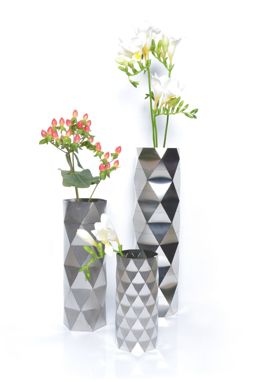 Vase modern 11 convert vase collection in stainless steel inspired vase modern 11 convert vase collection in stainless steel inspired by architectural geometry reviewsmspy