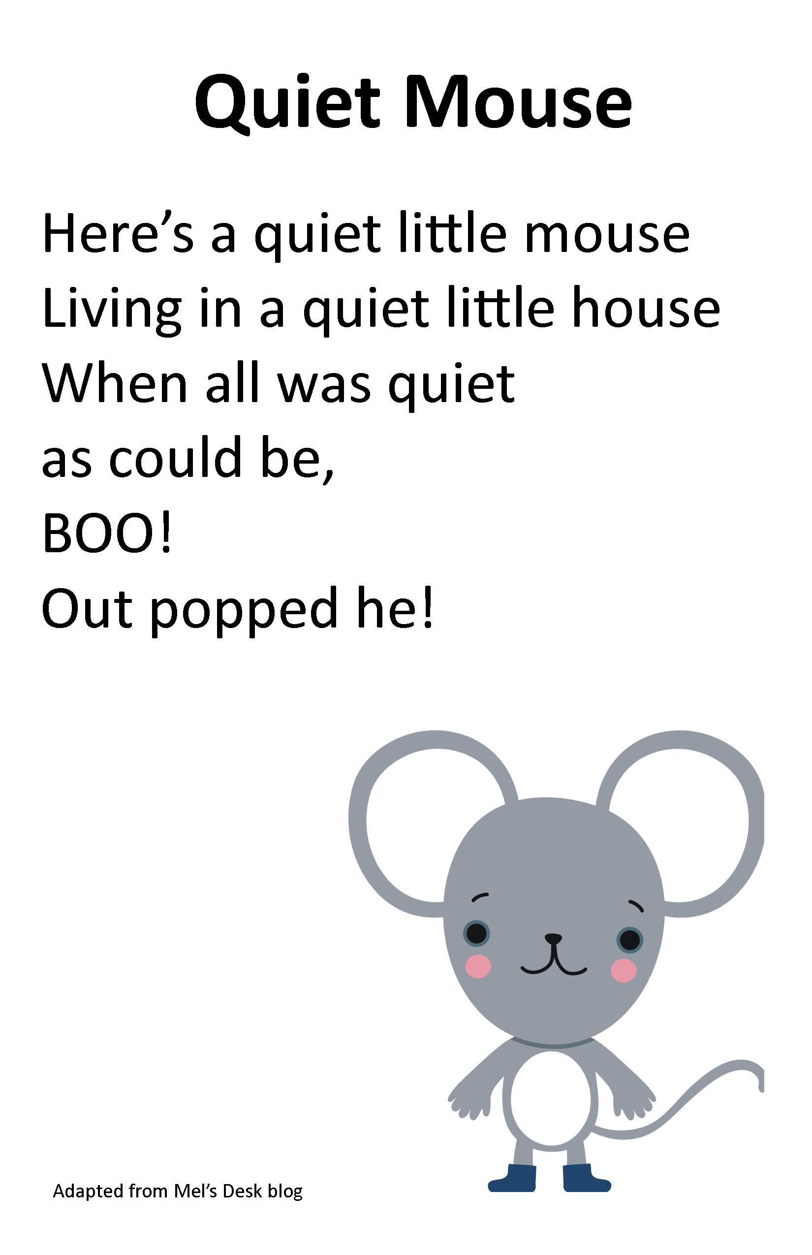 Itty Bitty Rhyme Quiet Mouse