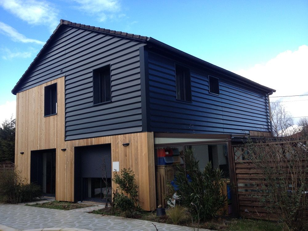 Bardage metallique maison recherche google exterior house cladding exterior siding et - Maison contemporaine ossature metallique ...