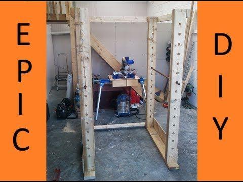 Power rack selber bauen  How to make Gym Power Rack Part 1 - YouTube | Workout stuff/ DIY ...