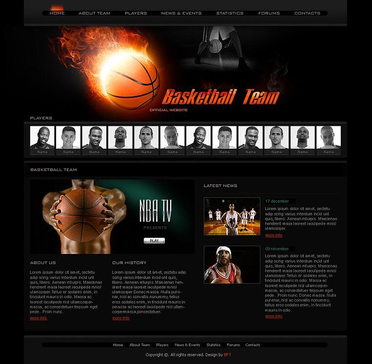 Free Basketball Team Templates Sport