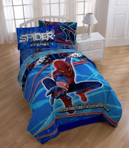 Marvel Amazing Spider Man Stick With Me Twin Bed Sheet Set By