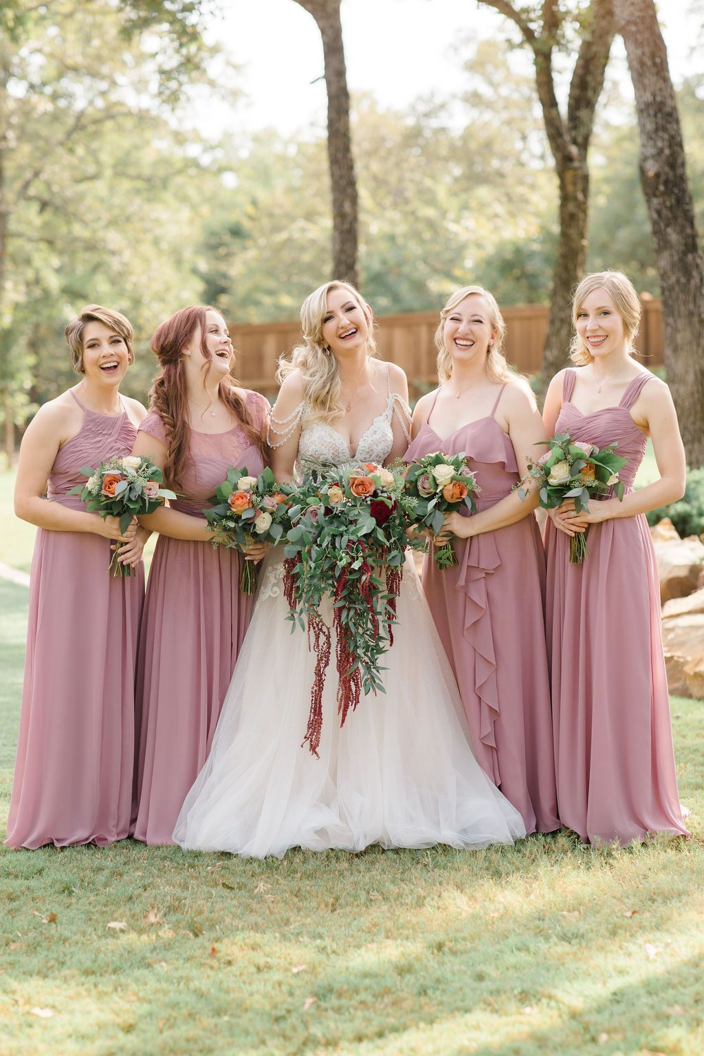 Bridesmaid Goals Dusty Rose Wedding Bridesmaid Matching Dresses Bridal Party Bri In 2020 Dallas Wedding Photographers Wedding Venues Blush Bridesmaid Dresses