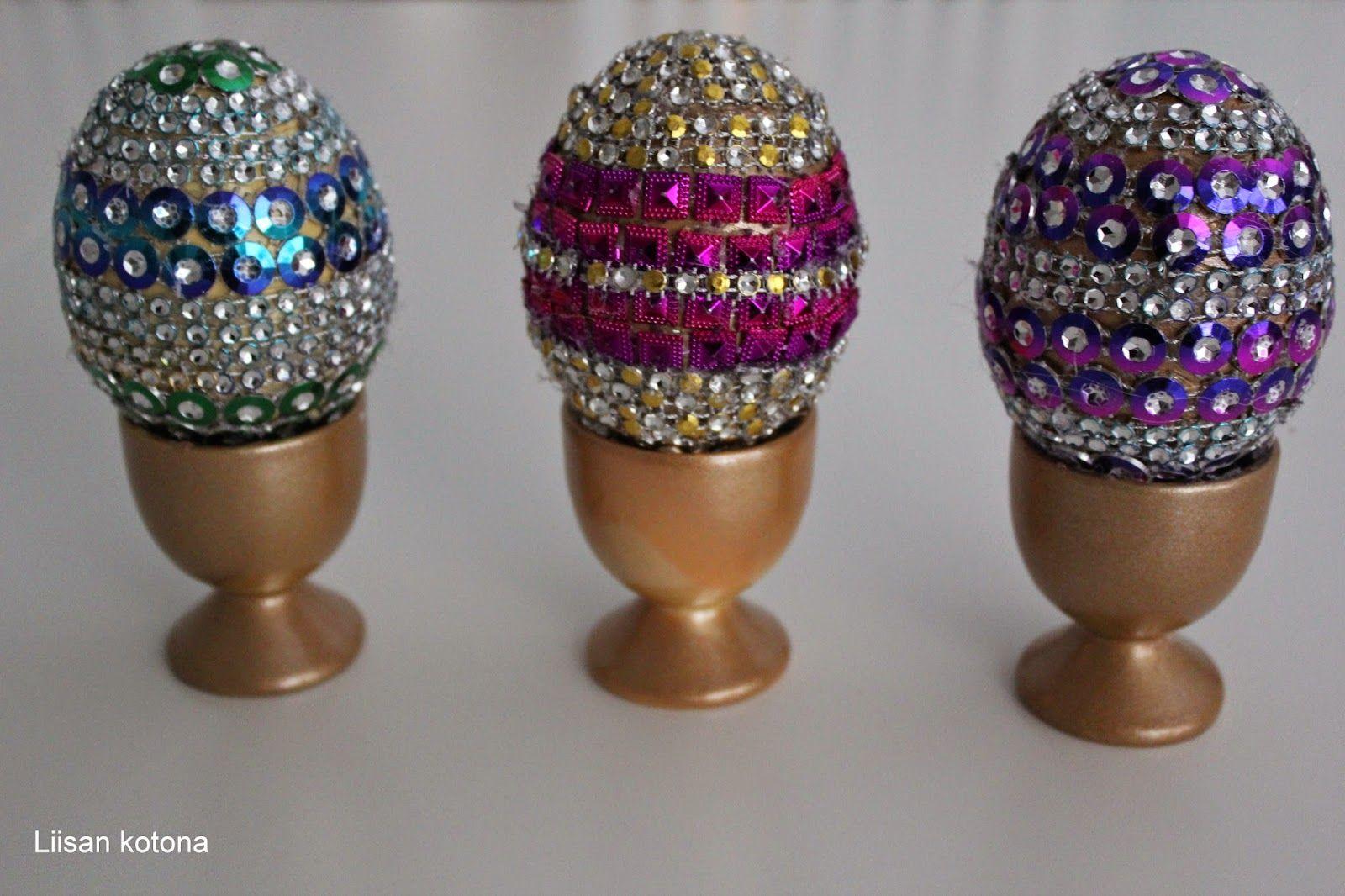 Liisan kotona: DIY koristellut pääsiäismunat