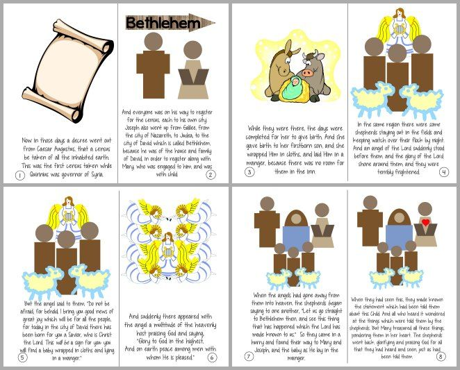 the christmas story luke 21 20 printable booklet