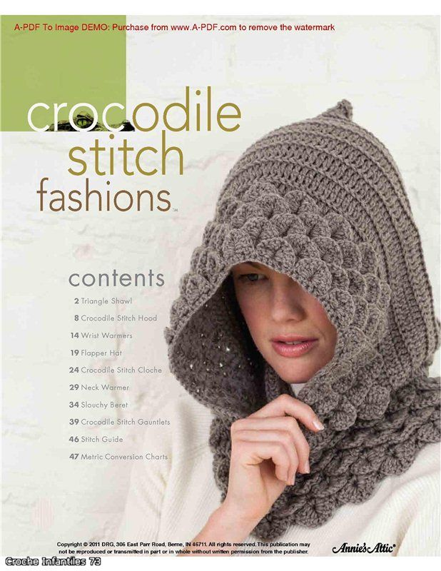 Patrones en Punto Cocodrilo (Crocodile Stitch)   Crochet   Pinterest ...